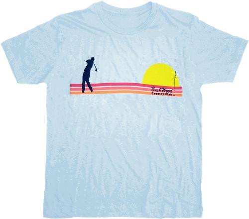 Caddyshack Bushwood Country Club Sunset Light Blue T-shirt