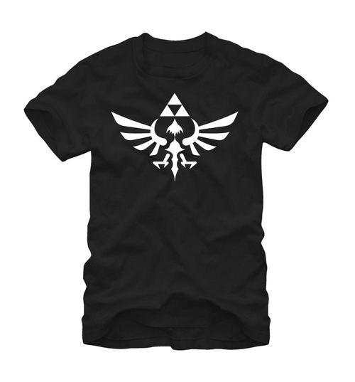 Nintendo Legend of Zelda Triumphant Triforce Adult Black T-Shirt