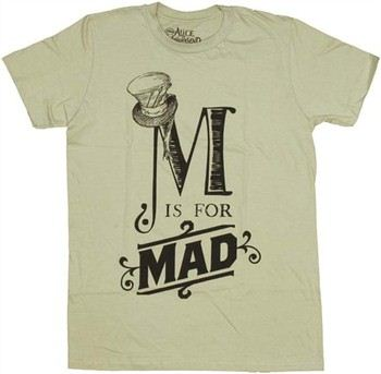 Alice in Wonderland M is for Mad T-Shirt Sheer by MIGHTY FINE