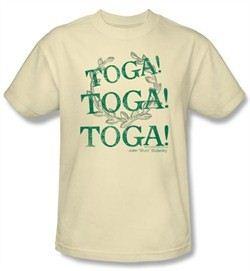 Animal House T-shirt Movie Toga Time Adult Cream Tee Shirt