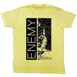 Flash Gordon T-Shirt Movie Enemy Adult Yellow Tee Shirt