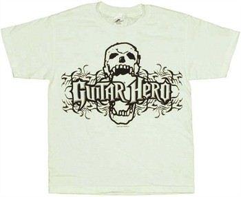 Guitar Hero Skull Biting Name Youth T-Shirt