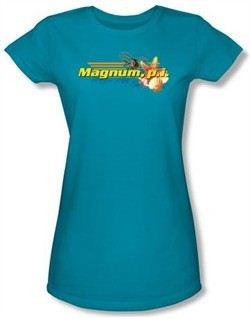Magnum P.I. Juniors T-shirt Hawaiian Life Turquoise Tee Shirt