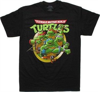 Teenage Mutant Ninja Turtles Circled Team T-Shirt