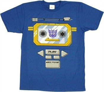Transformers Soundwave Costume Cassette Player T-Shirt Sheer