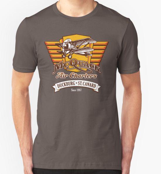 'McQuack Air Charters' T-Shirt by Ryan Sawyer T-Shirt