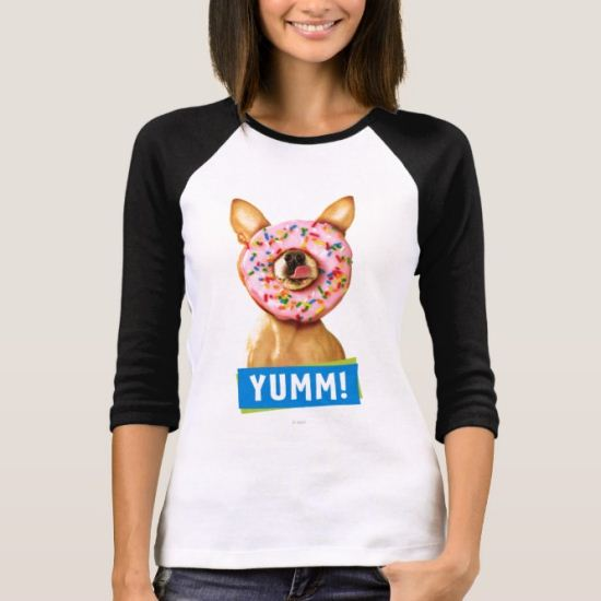 Funny Chihuahua Dog with Sprinkle Donut on Nose T-Shirt