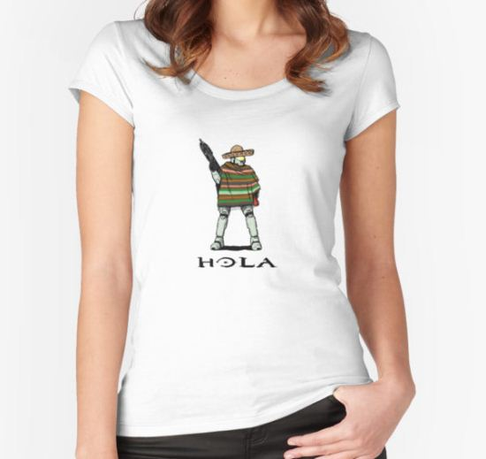 Hola Women's Fitted Scoop T-Shirt by caymanlogic T-Shirt