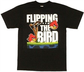 Angry Birds Flipping the Bird T-Shirt