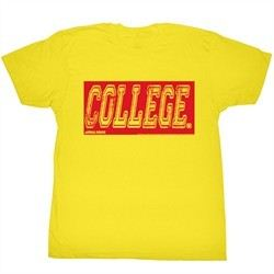 Animal House Shirt College Oby Adult Yellow Tee T-Shirt
