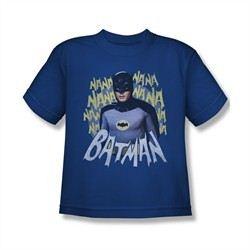 Classic Batman Shirt Kids Theme Song Royal Blue T-Shirt