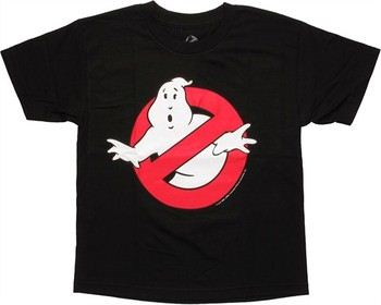 Ghostbusters Glow in the Dark No Ghosts Logo Youth T-Shirt