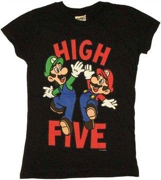 Nintendo Super Mario Luigi High Five Baby Doll Tee