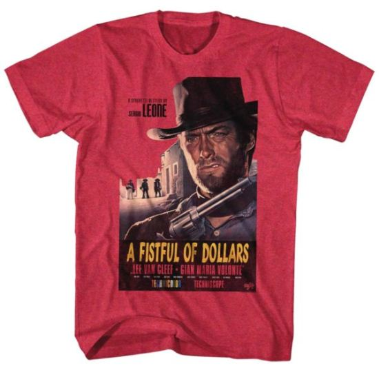 Clint Eastwood Shirt Fist Full Of Dollars Red T-Shirt