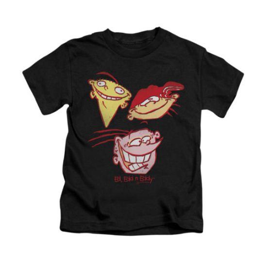 Ed, Edd N Eddy Shirt Kids Three Heads Black Youth Tee T-Shirt