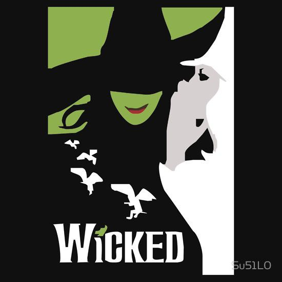 Wicked Broadway Musical About Wizard Of Oz by Su51L0 T-Shirt