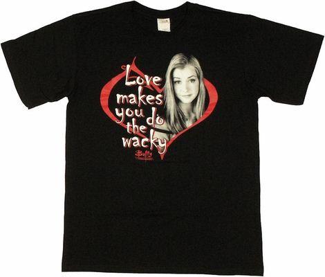 Buffy the Vampire Slayer Love Wacky T Shirt