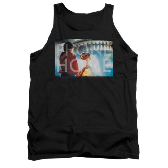 ET Shirts - Extra Terrestrial Tank Top Knockout Black Tanktop