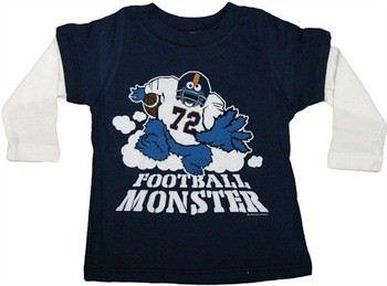 Sesame Street Cookie Monster Football Long Sleeve Infant T-Shirt