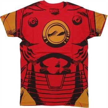 Marvel Comics Iron Man Classic Costume T-Shirt Sheer