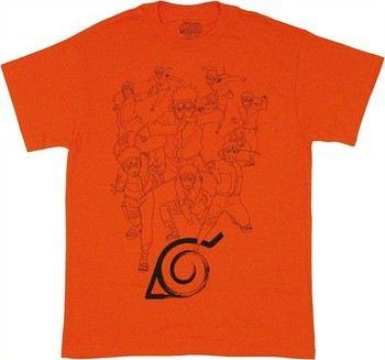 Naruto Shippuden Shadow Clone Technique T-Shirt