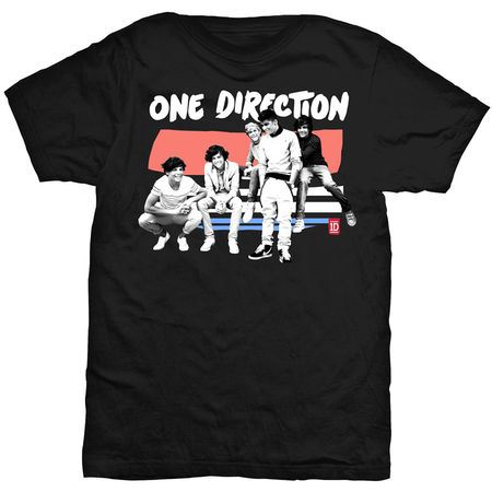 One Direction: One Direction Paint Strip Black T-Shirt