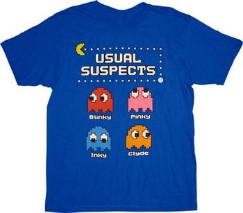 d4e40758 ... Pac-Man Usual Suspects Ghosts T-shirt