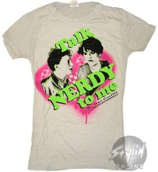 46faf4623bc806 ... Sixteen Candles Talk Nerdy to Me Baby Doll Tee