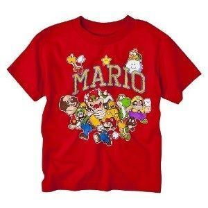 Nintendo Super Mario Bros. Characters Boys Red T-Shirt