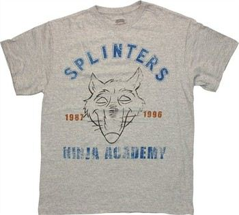 Teenage Mutant Ninja Turtles Splinter's Ninja Academy 1987 1996 T-Shirt