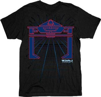 Tron Enemy Grid Black Adult T-shirt
