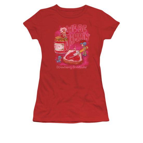 Strawberry Shortcake Shirt Juniors Jammin Red Tee T-Shirt