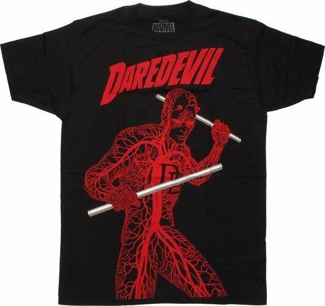 Daredevil Nervous System T Shirt Sheer