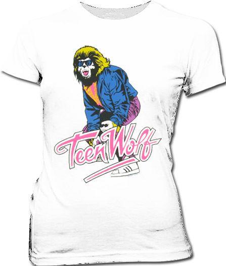 Teen Wolf Sunglasses Sheer White Juniors T-shirt Tee