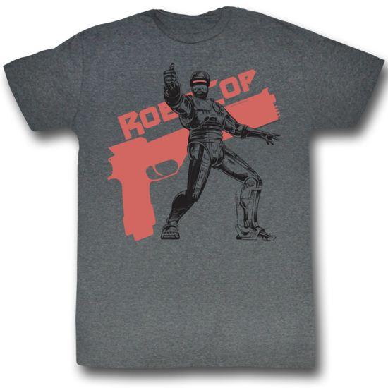 Robocop Shirt Ro Bro Cop Adult Charcoal Tee T-Shirt
