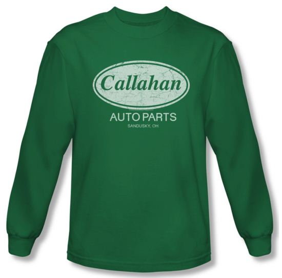 Tommy Boy Shirt Callahan Auto Long Sleeve Kelly Green Tee T-Shirt
