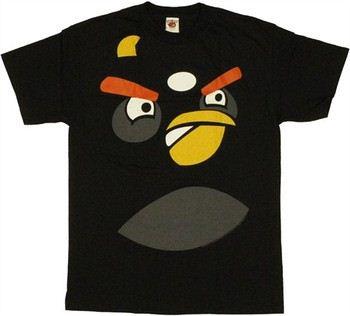 Angry Birds Bomb Bird Face T-Shirt