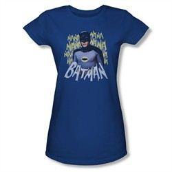 Classic Batman Shirt Juniors Theme Song Royal Blue T-Shirt