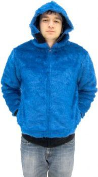 ... Sesame Street Cookie Monster Blue Faux Fur Full Zip Adult Costume Hoodie Sweatershirt Jacket  sc 1 st  Teemato.com & 48 Awesome Cookie Monster T-Shirts - Teemato.com