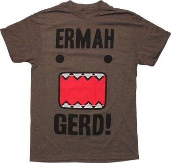 Domo-Kun Ermah Gerd! Braces T-Shirt