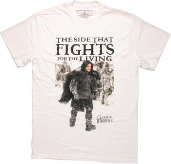 Game of Thrones Jon Snow Side that Fights for the Living T-Shirt
