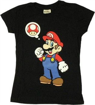 Nintendo Super Mario Mushroom Thought Baby Doll Tee