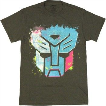 Transformers Autobot Logo Neon Spray T-Shirt