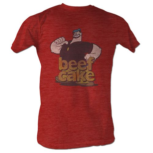 Popeye the Sailorman Bluto Beef Cake Adult Red T-Shirt