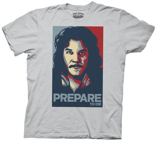 The Princess Bride Hope Poster Prepare to Die Inigo Silver Gray Adult T-shirt