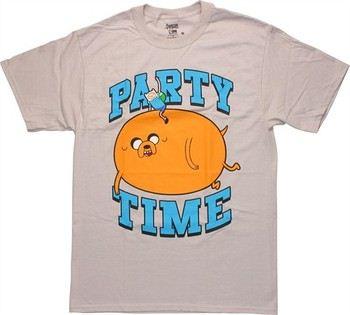 Adventure Time Party Time Finn Jake Blimp T-Shirt