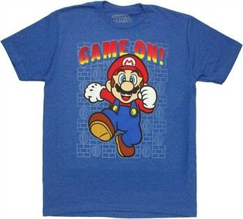 Nintendo Super Mario Game On T-Shirt