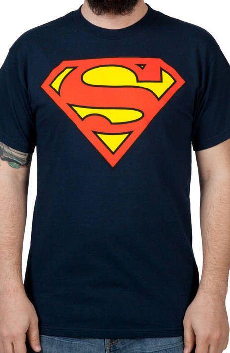 Navy Superman Logo Shirt