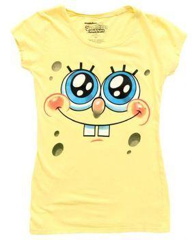 Nickelodeon SpongeBob SquarePants Glitter Eyes Juniors Yellow T-Shirt