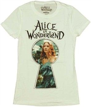 Alice in Wonderland Through Keyhole Baby Doll Tee by MIGHTY FINE